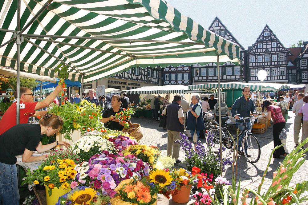Schorndorfer Wochenmarkt im Sommer