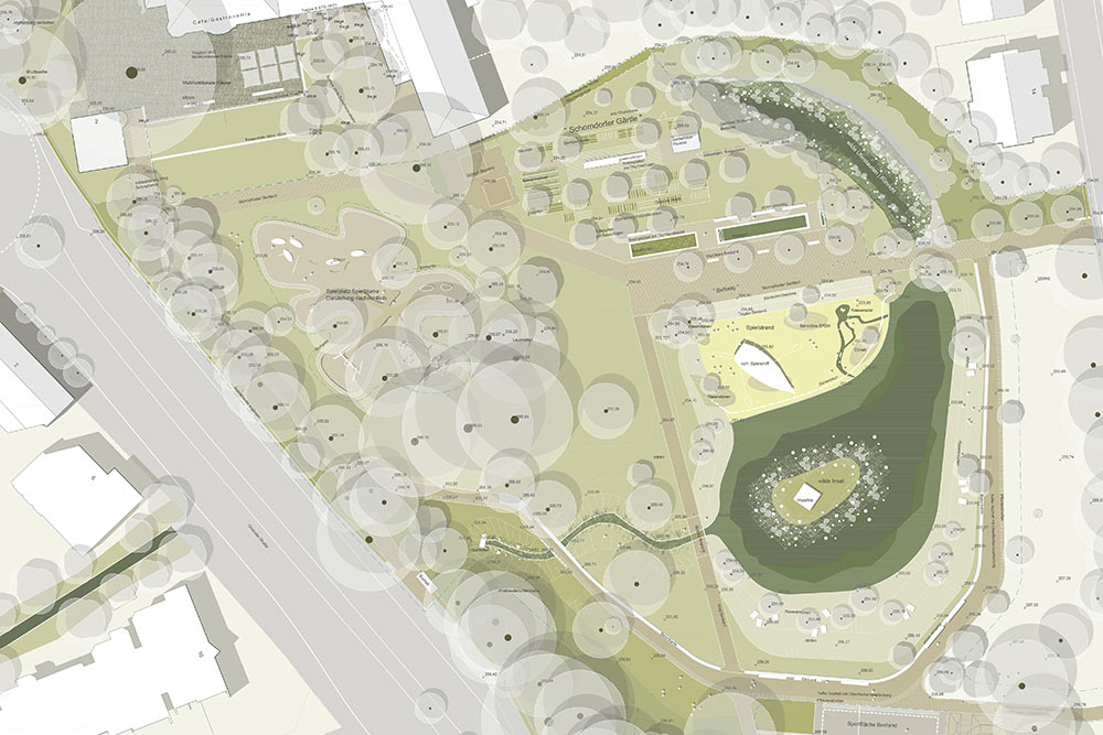 Mit den Umgestaltungen soll der Schorndorfer Stadtpark noch attraktiver werden.Grafiken: Stötzer