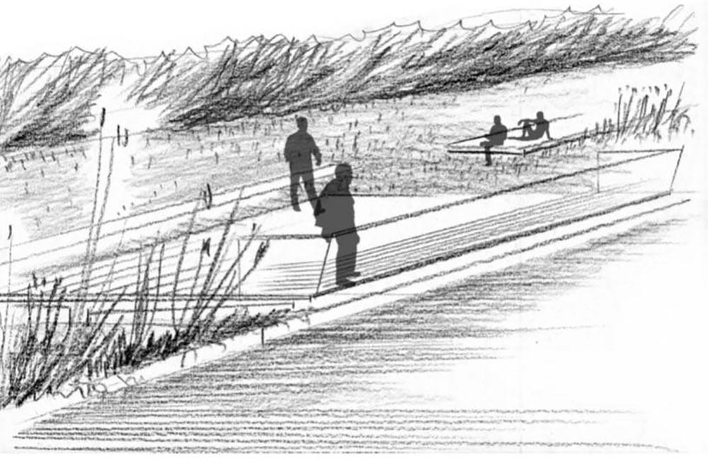 Ein Holzdeck soll in den See hineinragen.