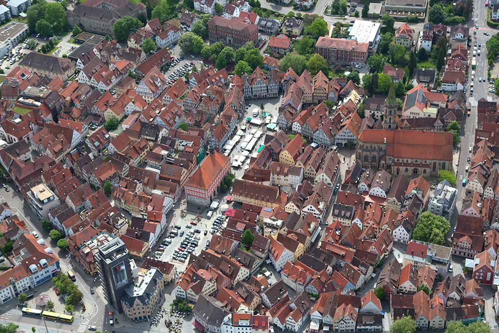 Luftbild der Stadt Schorndorf