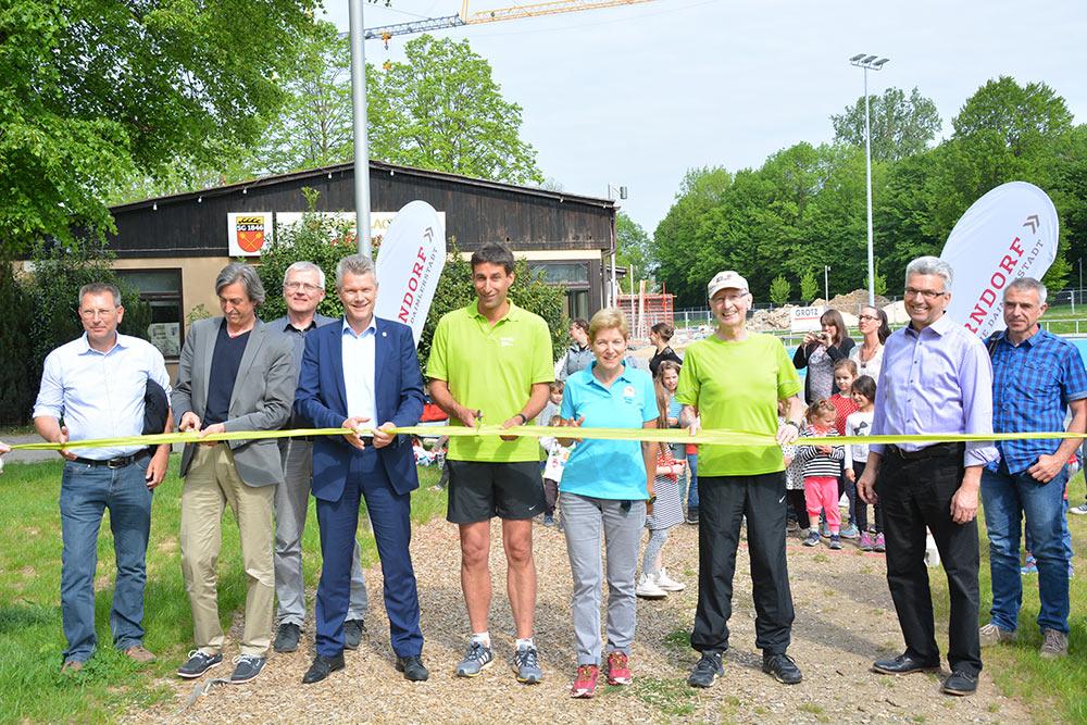 Die Finnenlaufbahn steht allen Läuferinnen und Läufern sowie Walkern zur Verfügung.