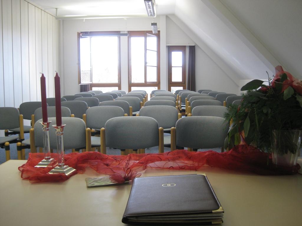Trauzimmer im Verwaltungsgebäude Künkelin