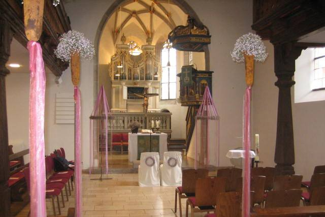 Trauung in der Kirche in Haubersbronn