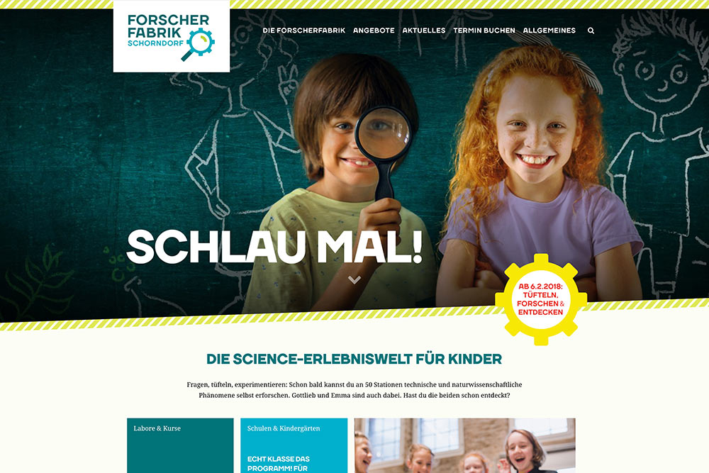 Website der Forscherfabrik Schorndorf