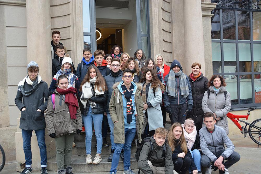 Tuller Schülerinnen und Schüler beim Austausch in Schorndorf.