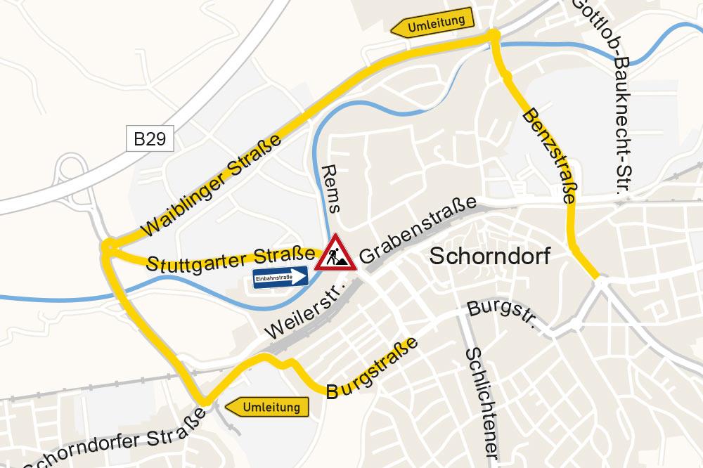 Umleitungsstrecke Stuttgarter Straße