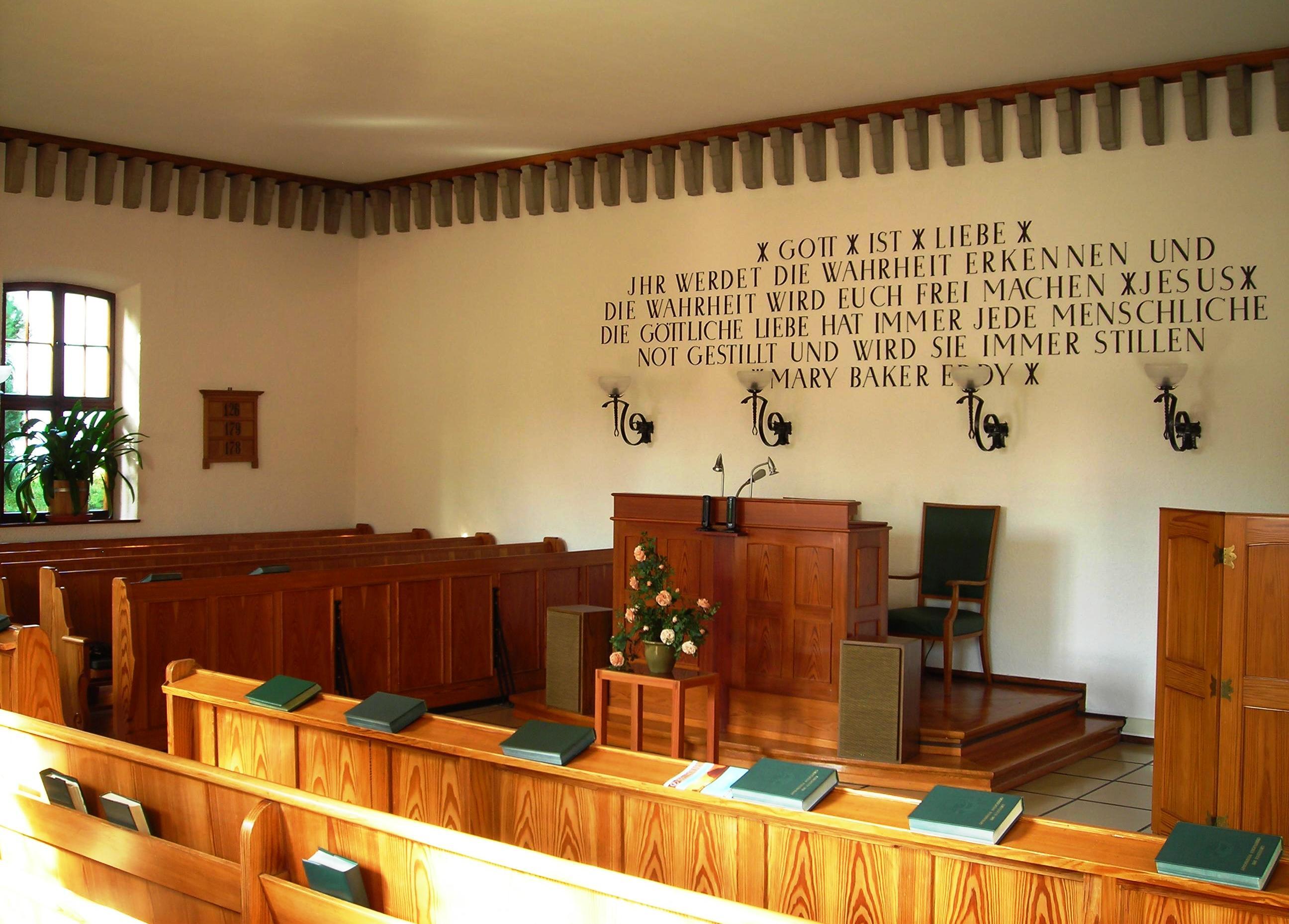 Erste Kirche Christi Innenraum
