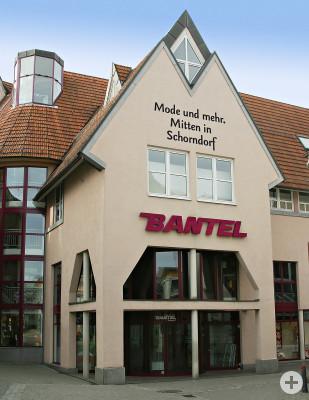Außenansicht des Gebäudes der Firma Bantel