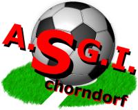 Das Wappen von A.S.G.I Schorndorf mit einem Fußball