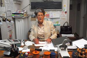 Irene Beisswanger in ihrer Werkstatt