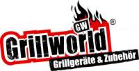 Logo der Firma Grillworld in den Farben schwarz und rot mit weißem Hintergrund