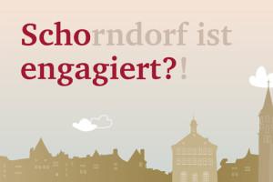 """Logo """"Scho engagiert"""" in roter Schrift, über der Schorndorfer Silhouette"""