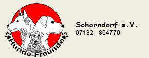 Logo des Hundevereins in schwarzer Schrift mit weißem Hintergrund