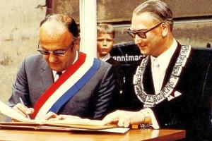 Bürgermeister Jean Montalat und Oberbürgermeister Rudolf Bayler