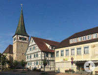 Blick auf die Kirche in Haubersbronn