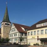 Ortsmitte mit der Kirche in Haubersbronn