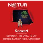 Flyer mit der Einladung zu einem Konzert aus dem Jahr 2019