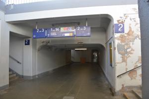 Die Bahnhofsunterführung wird saniert.