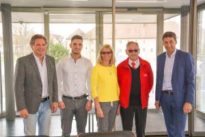 Gerald und Fabiano Feig, Ulrike Schwebel, Josef Herbert und OB Matthias Klopfer (v.l.)