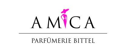 Logo der AMICA Parfümerie Bittel in schwarzer Schrift mit weißem Hintergrund