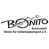 Logo von Bonito, dem Verein für Unterwassersport in Schorndorfer in schwarzer Schrift mit weißem Hintergrund
