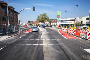 Die Stuttgarter Straße ist wieder befahrbar.