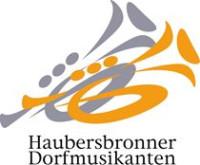 """Logo des Musikvereins """"Frisch-Auf"""" Haubersbronn in den Farben orange, grau und schwarz mit weißem Hintergrund"""