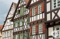 Vier Fachwerkhäuser in der Schorndorfer Innenstadt