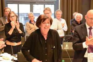 Agi Schilling bei ihrer Verabschiedung aus dem Gemeinderat im September 2017.