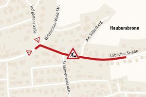 Die Fahrbahnsanierungen in Haubersbronn dauern voraussichtlich bis Ende August.