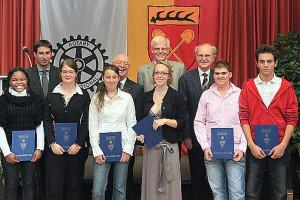 Preisträger, Rotarier und Oberbürgermeister