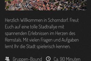 """Screenshot """"Tour de Schorndorf"""" in der Actionbound-App"""