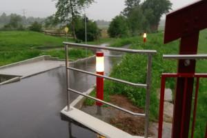 So sieht die neue Beleuchtung der Remsbrücke am Alten Baurenwasen aus