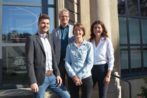 Jörg Stritzelberger, Thorsten Donn, Claudia Ingelmann und Isabelle Kübler (v.l.).
