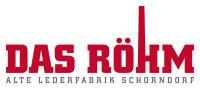 Logo von Das Röhm in rot mit weißem Hintergrund