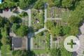 Friedhof in Schornbach von oben