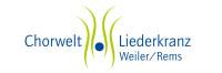 Logo des Liederkranz Weiler in blauer Schrift mit weißem Hintergrund