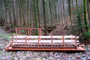 Das Modell der neuen Brücke vor dem Versunkenen Brückchen.