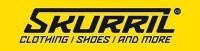 Logo der Firma Skurril in schwarzer Schrift mit gelbem Hintergrund