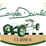 Logo von Carola Daimler Classics in grüner Schrift mit weißem Hintergrund