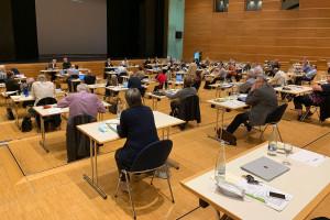 Der Schorndorfer Gemeinderat tagte in der Barbara-Künkelin-Halle.