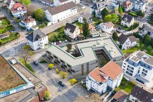 So wird das neue Quartiershaus aussehen. (Modell: Bloss/Keinath Architekten)