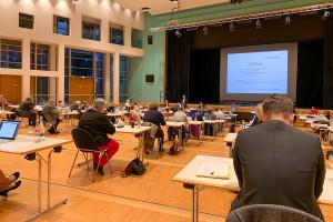 Weiterhin tagt der Gemeinderat in der Barbara-Künkelin-Halle.
