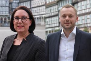 Die neuen Fachbereichsleitungen: Sonja Schnaberich-Lang (links), Jörn Rieg (rechts)
