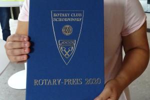 Die blaue Mappe des Rotary Schülerpreis