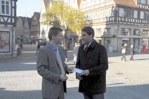 Dagobert Windolf und OB Matthias Klopfer