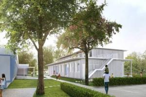 Visualisierung des Schulpavillon Fuchshofschule