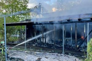 Der Kindergarten in Oberberken ist vollständig ausgebrannt