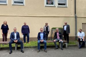 Erster Bürgermeister Edgar Hemmerich, Christian Bergmann, Thorsten Donn, Karin Karstedt , Kathrin Lillich, Iris Schaffer und Frank Geißler stellten die Ergebnisse der Nachbarschaftsgespräche vor