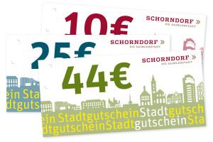 Die neuen Schorndorfer Stadtgutscheine